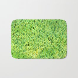Watercolor Grass Pattern Green by Robayre Bath Mat