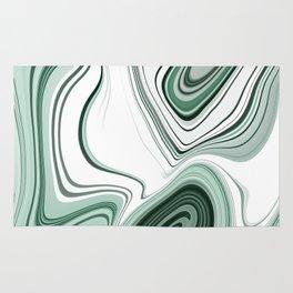 Bold Green Agate Stone Effect Design Rug