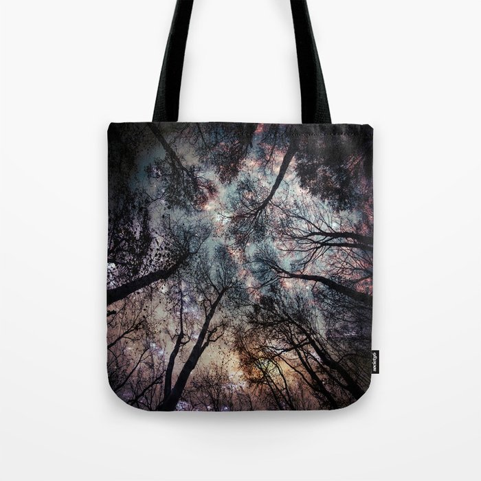 Starry Sky in the Forest Tote Bag