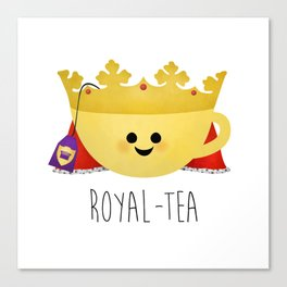 Royal-tea Canvas Print