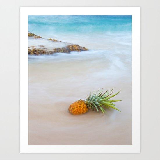 Island Style Pineapple  Art Print