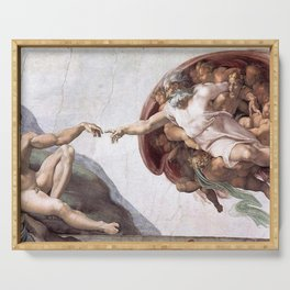 The Creation Of Adam Serving Tray