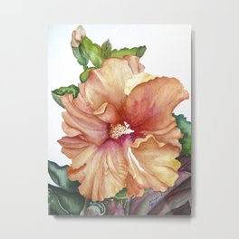 vibrant hibiscus Metal Print