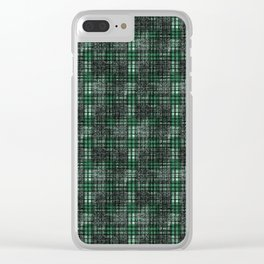 Classical black and emerald cell. Clear iPhone Case
