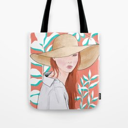 Into the Tropics Illustration Tote Bag