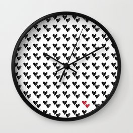 HEARTS ALL OVER PATTERN VI Wall Clock