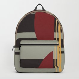Midcentury Abstract Stripes 'Loom' Backpack