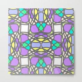 Colorful stylized mosaic seamless pattern Metal Print