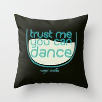 vodka Throw Pillows featuring Says Vodka by Daniac Design