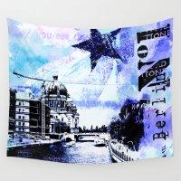 berlin Wall Tapestries featuring Berlin  by LebensART