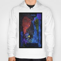 aquarius Hoodies featuring Aquarius by Laura Jean