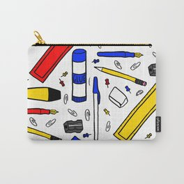 Stationery Pattern Carry-All Pouch