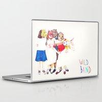 band Laptop & iPad Skins featuring Wild Band by Carol Jimenez