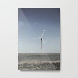 Grainy Texas Windmill  Metal Print