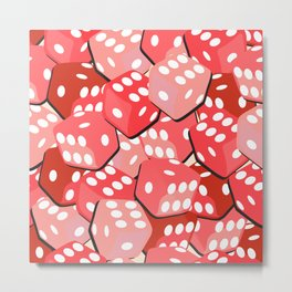 Lucky Red Dices Metal Print