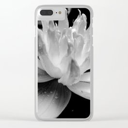 Hopeful Water Lilly III Clear iPhone Case