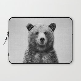 Grizzly Bear - Black & White Laptop Sleeve