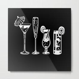 Funny Bartender Shirt Gift Motif Design Metal Print