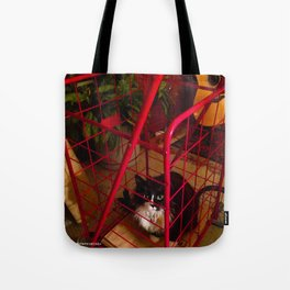 Cat in a Cart (Gracie Queen of Chicago Collection) Tote Bag