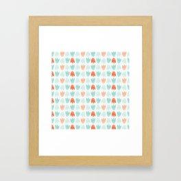 Graphic Tulips Framed Art Print