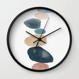 River Rocks I Wall Clock