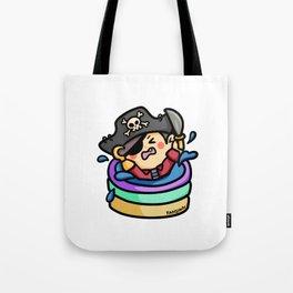 Pirate screaming skull kiddie pool Tote Bag