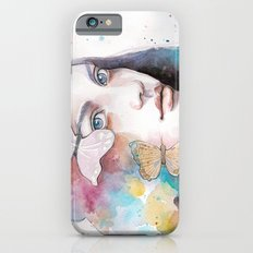 Lady with a butterfly iPhone 6s Slim Case