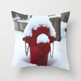 My little fire fighter Throw Pillow