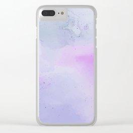 Soft Watercolours - Lavendar Clear iPhone Case