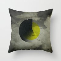 shadow Throw Pillows featuring Shadow by NGHBRS