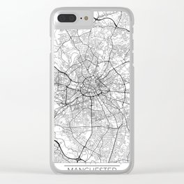 Manchester Map White Clear iPhone Case
