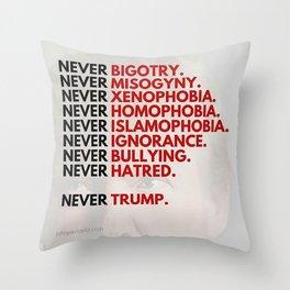 Never Trump - Political Throw Pillow