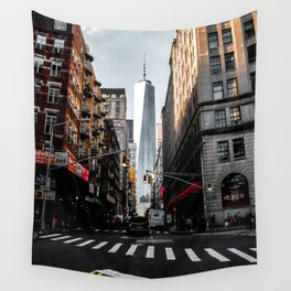 Lower Manhattan One WTC Wall Tapestry