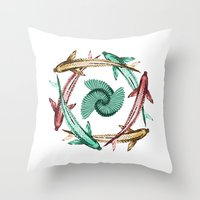 circle Throw Pillows featuring Circle by DebS Digs Photo Art