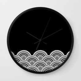 BLACK AND WHITE (abstract pattern) Wall Clock