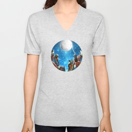 Feline Dreams Unisex V-Neck