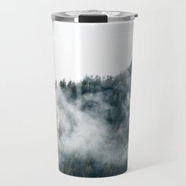 A Foggy Mountains Travel Mug