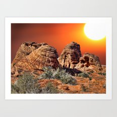 Valley of Fire, Nevada, USA  Art Print