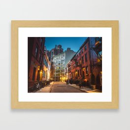 Twilight Hour - West Village, New York City Framed Art Print