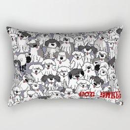 Original Sheepdogs On Watch Rectangular Pillow