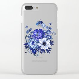 China Blue Porcelain, Asia, Peony, Flower, Floral, Cyan Clear iPhone Case