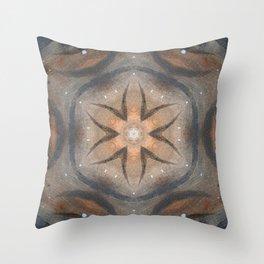 Bushfire Gum Medallion 15 Throw Pillow