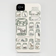 Protect Wildlife - Endangered Species Preservation  iPhone (4, 4s) Slim Case