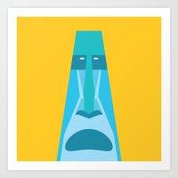 tiki Art Prints featuring Tiki by Graeme Luey