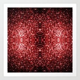 Beautiful Glamour Red Glitter sparkles Art Print