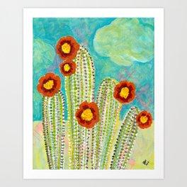 Cactus - Mixed Media Art Print