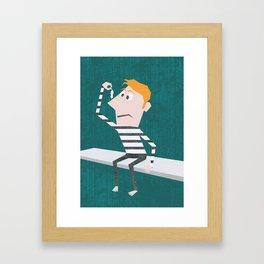 I have a snack! Framed Art Print