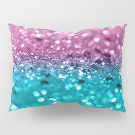 Tropical Beach Lady Glitter #7 #shiny #decor #art #society6 Pillow Sham
