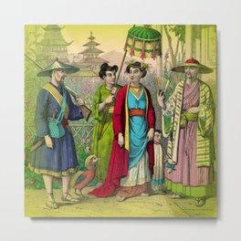 Chinese Costume Metal Print