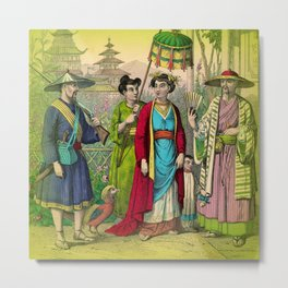 Chinese Costume Metal Print